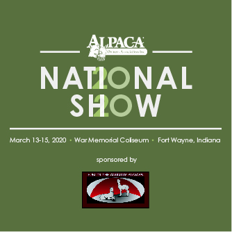 AlpacaGram 6.74 | Now Accepting RFPs for the 2020 AOA National Show sponsored by Fun in the Country Alpacas